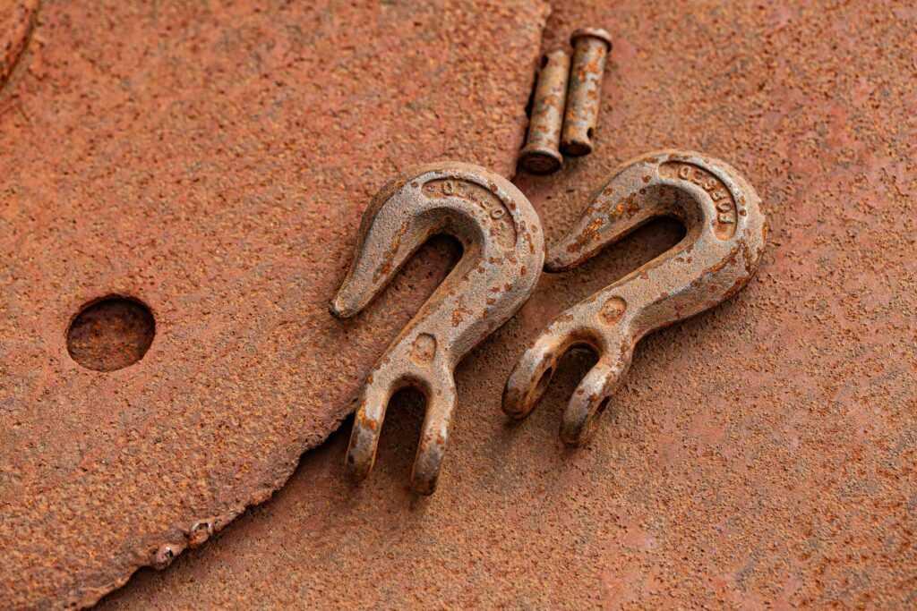 old rusty hooks